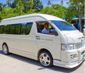 Vizarun on a comfortable minibus. Penang. Malaysia.
